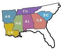 southeastern us
